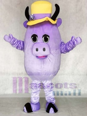 Madcap Purple Cow Mascot Costume Animal