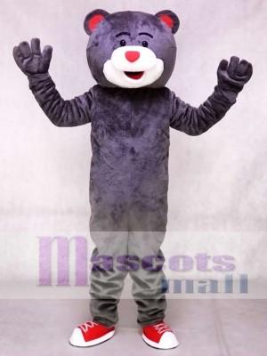 Grey Clutch the Bear Mascot Costume