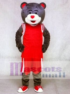 Clutch the Bear Mascot Costume Houston Rockets Grey Bear Mascot