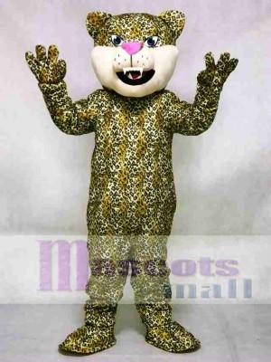 Pink Nose Leopard/Cheetah/Jaguar Mascot Costume Animal