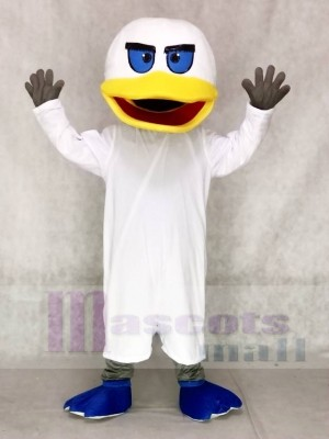 White Duck with Blue Flippers Mascot Costumes Animal