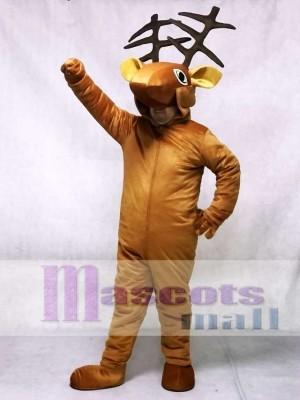 Coffee Deer Open Face Kids Mascot Costume