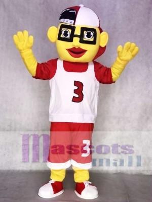 Basketball Boy Mascot Costume with Cap