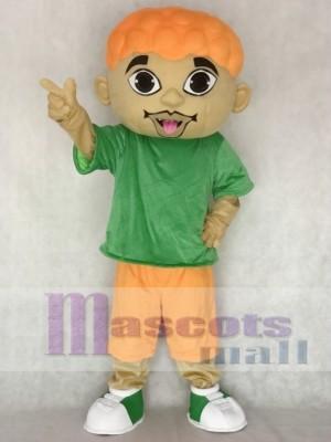 Cartoon DJ Boy Singer Artist Mascot Costume People