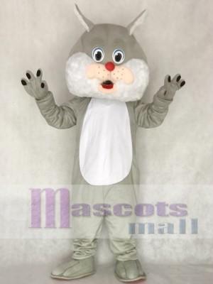 Grey Wirey Wildcat Mascot Costume Animal