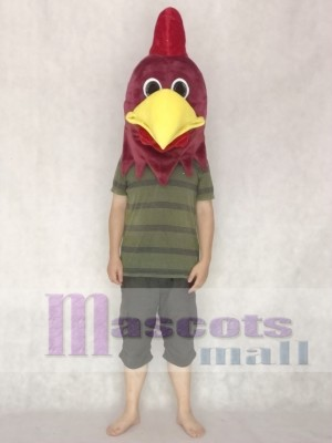 Realistic Rusty Rooster Mascot HEAD ONLY Animal
