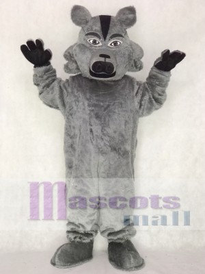 Dark Grey Pro Wolf Mascot Costume Animal