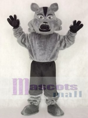 Grey Pro Wolf Mascot Costume Animal