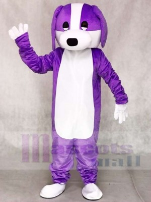 Purple and White Dog Mascot Costumes Animal