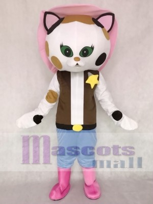 Musical Comedy Series Sheriff Callie Cat Mascot Costume Callie's