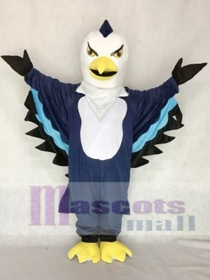 Cute Dark Blue Thunderbird Mascot Costume