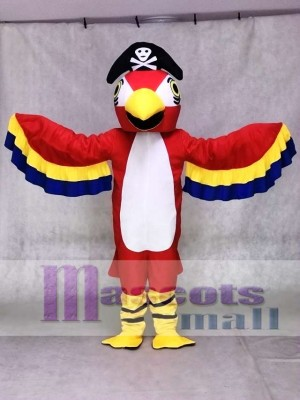 Red Pirate Parrot with Tail Mascot Costumes Bird