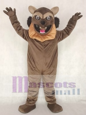 Brown Wolverine Wolf Mascot Costume Animal