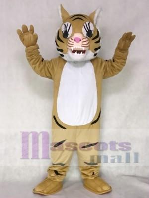 Brown Big Cat Tiger Mascot Costume Animal