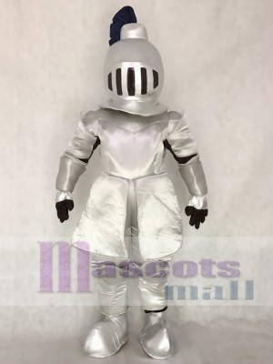 Silver Knight in Shining Armour Mascot Costume People