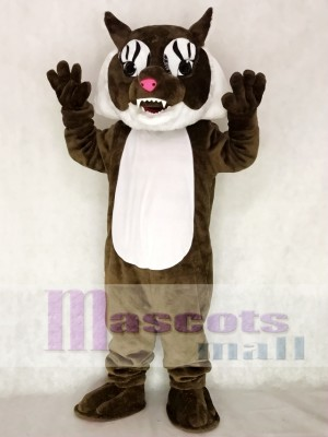 Cute Super Brown Wildcat Cat Mascot Costume Animal