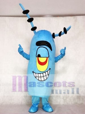 Plankton Mascot Costume from Cartoon SpongeBob SquarePants Cartoon