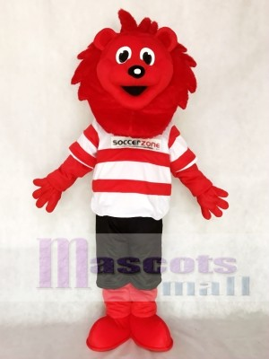 Red Lion for Soccer Team Mascot Adult Costume Animal