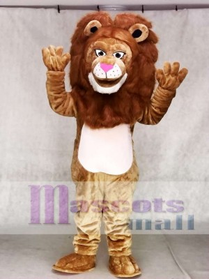 Fierce Brown Wally Lion Mascot Costume Animal