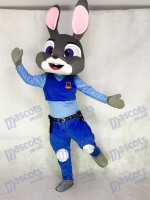 Adorable Easter Bunny Zootopia Judy Hopps Mascot Costume Cartoon Film Role Clothing