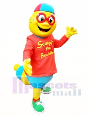 Yellow Bookstorm Mascot Costumes Insect