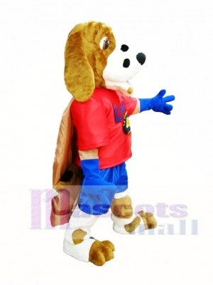 Dog with Cloak Mascot Costume Library Dog Mascot Costumes Animal