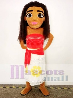 Moana Mascot Costume Princess Cosplay Halloween Party Mascot Costume People