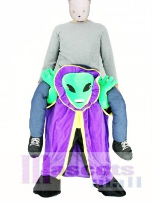 Carry Me Alien with Cloak Pick Me Up Mascot Costume