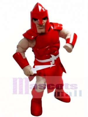 Red Titan Spartan Trojan Knight Warrior Mascot Costume People