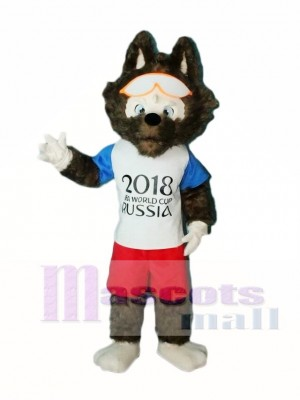 2018 Russia FIFA World Cup Football Zabivaka Wolf Mascot Costumes Animal