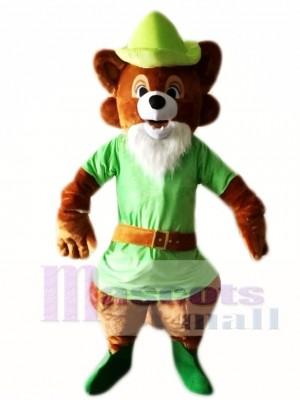 Cute Robin Hood Brown Fox Mascot Costumes