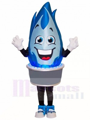 Blue Gas Flame Mascot Costumes