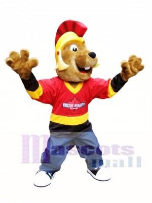 Beaver in Helmet Mascot Costumes Animal