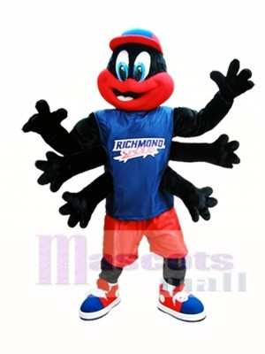 Black Spider Mascot Costume Richmond Spiders Mascot Costumes Insect
