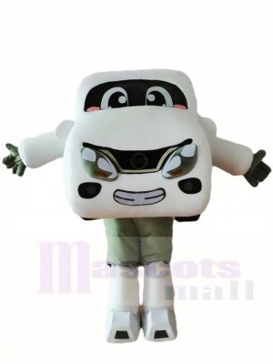 White Car Automobile Mascot Costumes