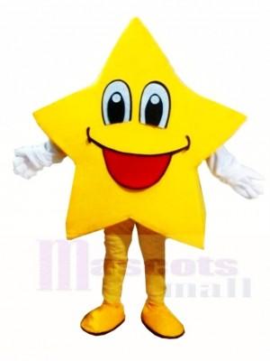Smiling Twinkle Star Mascot Costumes Christmas Xmas
