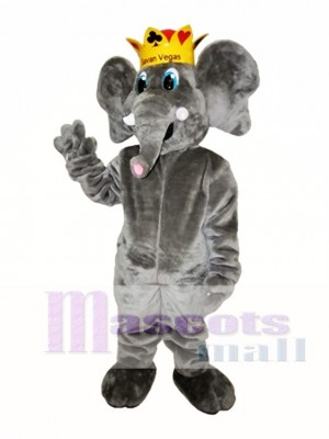 Cute Grey Elephant Mascot Costume Gray Elephant Mascot Costumes Animal