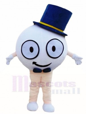 Golf Ball with Hat Mascot Costumes Sport