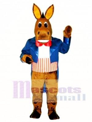Cute Patriotic Donkey Mascot Costume Animal