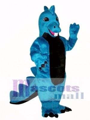 Cute Blue Dino Mascot Costume Animal