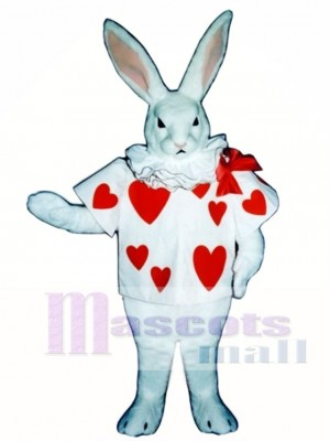 Cute Easter White Rabbit with Jacket Mascot Costume Animal