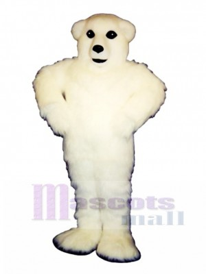 Happy Polar Bear Mascot Costume Animal