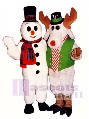 Cute Peppermint Mousse with Lite-up Nose & Hat Mascot Costume Christmas Xmas