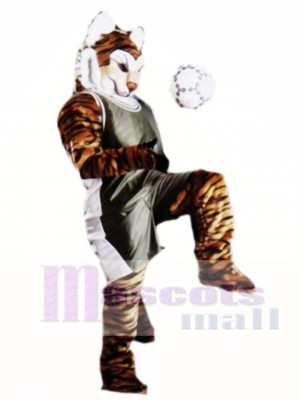 Cute Pro Tiger Mascot Costume Animal