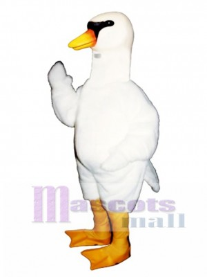 Cute Swan Mascot Costume Bird
