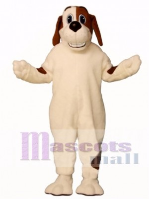 Cute Grinning Hound Dog Mascot Costume Animal