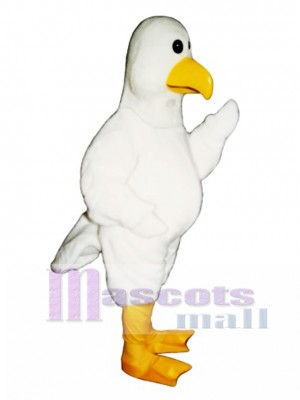 Cute Sammy Seagull Mascot Costume Bird