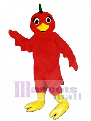 Cute Lil Red Bird Mascot Costume Bird