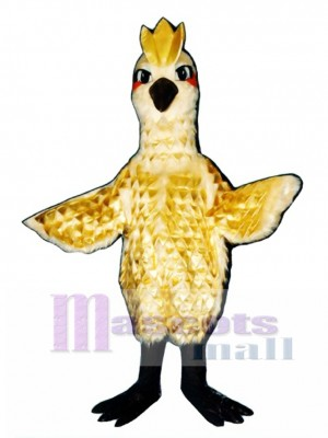 Cute Golden Phoenix with Gold Lame Feathers Mascot Costume Bird