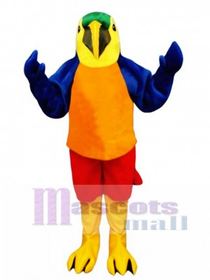 Cute Tropical Parrot Mascot Costume Bird
